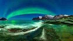 شفق قطبی در نروژ رو به ص...