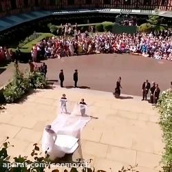لباس عروس مگان مارکل در...