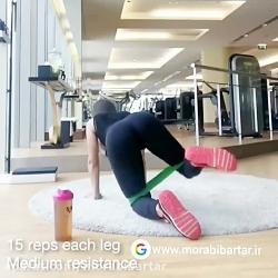 تمرین با کش ورزشی ،شمار...