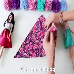 ساخت لباس برای باربی 1