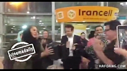 نخل طلای کن در فرودگاه به دست جعفر پناهی رسید