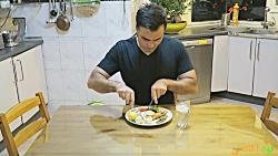 پخت ماهی سالمون آشپزی م...