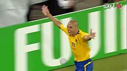 گلهای بازی سوئد 2-2 انگل...