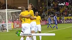 گلهای بازی برزیل 4-1 ژاپ...
