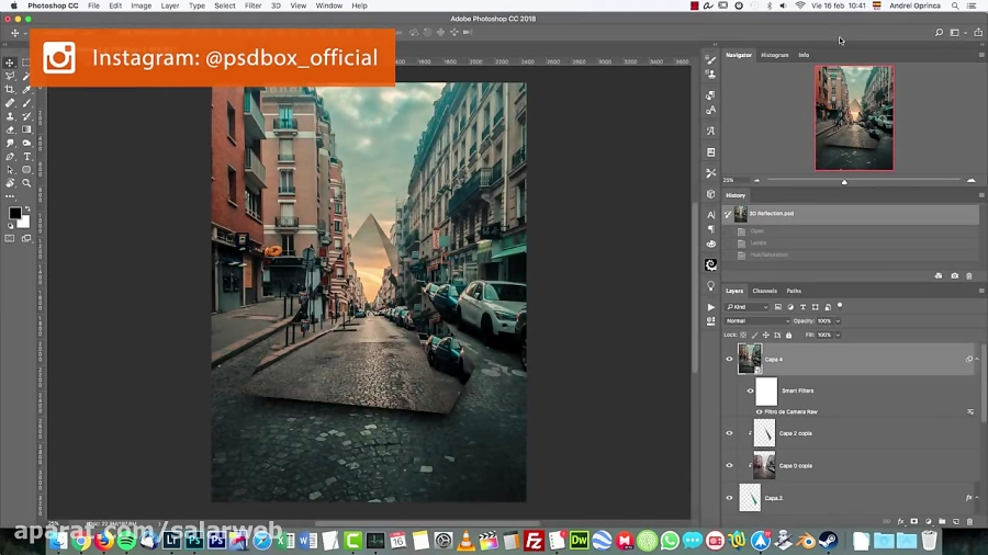Create Abstract 3D Reflections - Photoshop 2018 tutorial