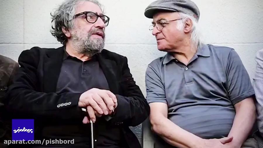 حضور هنرمندان در مراسم تشیع ناصر ملک مطیعی