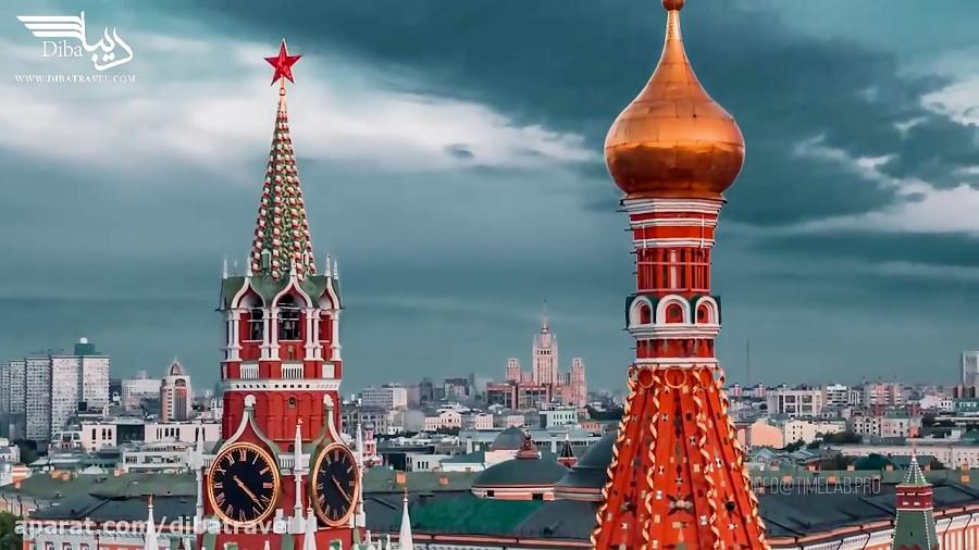 زیباترین فیلم شهر مسکو پایتخت روسیه را با دیبا ببینید