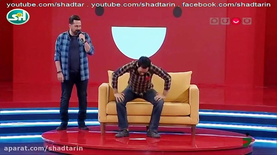 خل بازی خنده دار محمد معتضدی و بهزاد قدیانلو در خندوانه