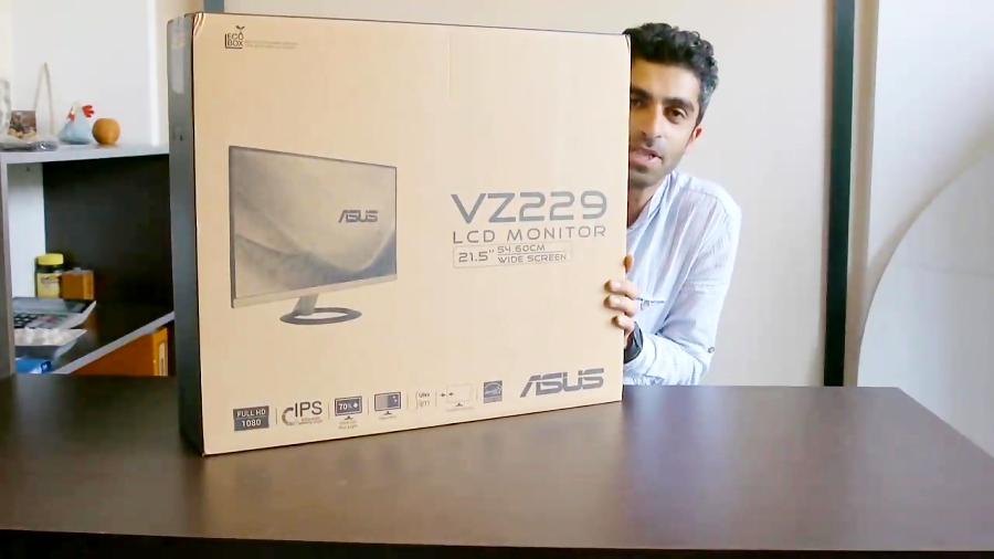 آنباکسینگ مانیتور asus vz229