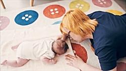 تمرین مهم حرکتی Tummy Time یا خواباندن نوزاد به روی شکم
