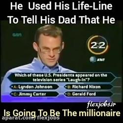 لحظه ی برنده شدن میلیون دلار توسط پسر نابغه.
