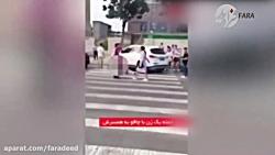 فیلم لحظه حمله با چاقو به شوهر خائن در خیابان