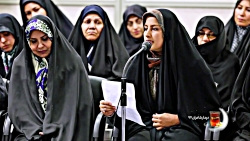 شعرخوانی سمانه روشنایی در دیدار شعرا با رهبر انقلاب