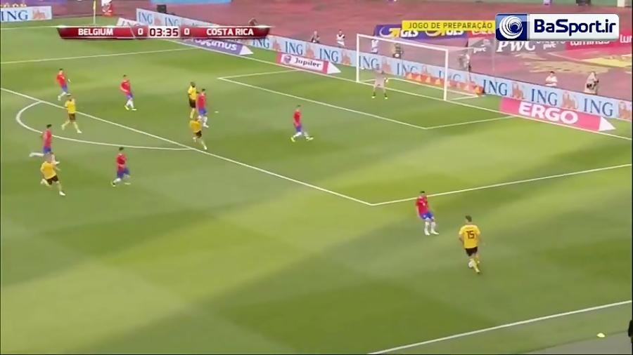 خلاصه بازی بلژیک 4-1 کاستاریکا (دبل لوکاکو)