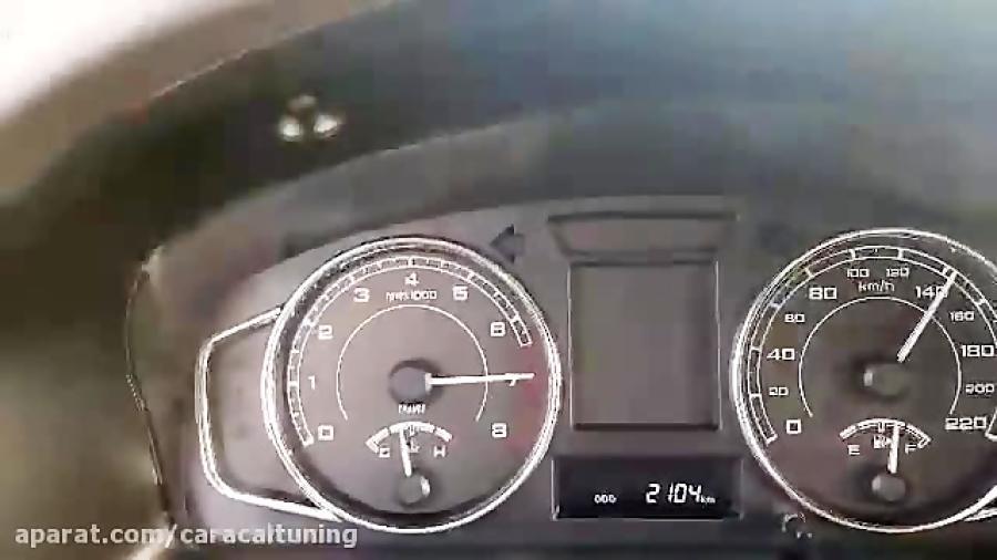 شتاب پژو پارس 97 ریمپ با ای سی یو کروز ( 11 ثانیه)