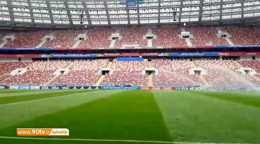 اختصاصی/ شرایط ورزشگاه لوژینکی یک روز قبل از افتتاحیه جام جهانی