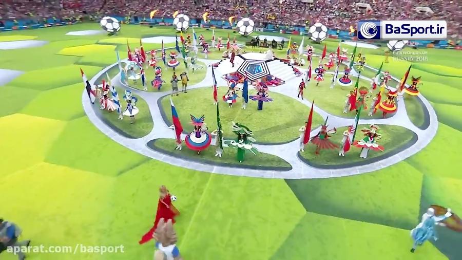 مراسم افتتاحیه جام جهانی روسیه (HD)