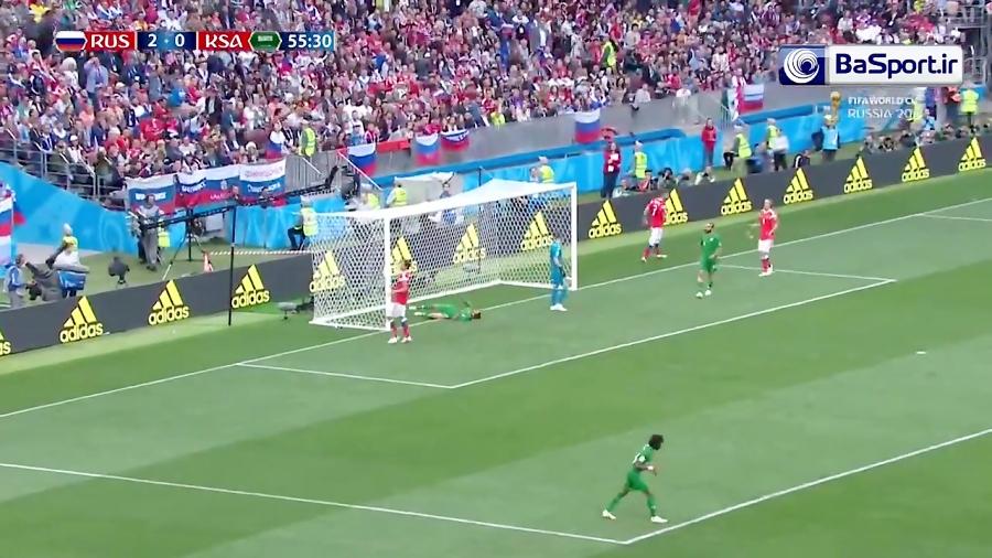 خلاصه بازی روسیه 5-0 عربستان (HD)
