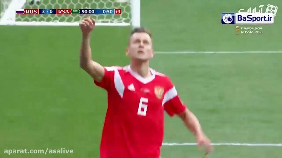 خلاصه بازی روسیه 5-0 عربستان (ترکی)