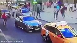 زیر گرفتن مردم توسط یک راننده تاکسی در مسکو