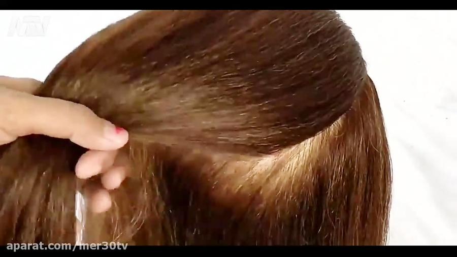 آموزش مدل موی زیبای پاپیونی