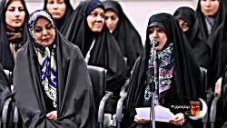 شعرخوانی معصومه شریف در دیدار شعرا با رهبر انقلاب