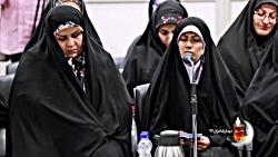 شعرخوانی فائزه زرافشان در دیدار شعرا با رهبر انقلاب