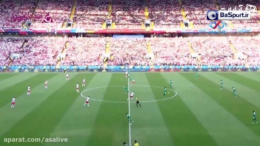 خلاصه بازی سنگال 2-1 لهستان (ترکی)
