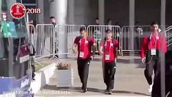 ورود بازیکنان تیم ملی به استادیوم کازان و نظر هواداران
