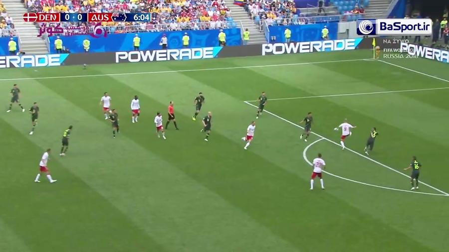 خلاصه بازی دانمارک 1-1 استرالیا (HD)