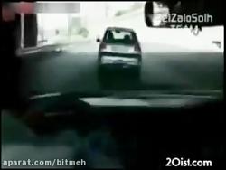 رانندگی خطرناک و تصادف در تهران