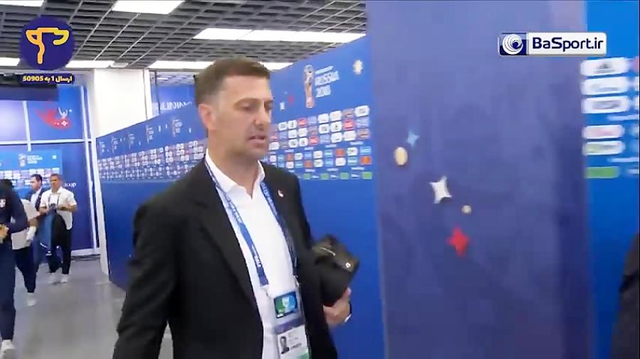 ورود بازیکنان صربستان و سوئیس به ورزشگاه