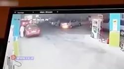 راننده بی احتیاط پمپ بن...