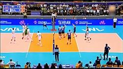 خلاصه بازی ایران 3-1 بلغارستان (لیگ ملت های والیبال)