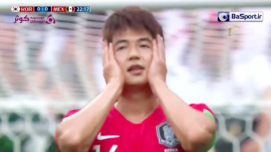 خلاصه بازی کره جنوبی 1-2 مکزیک(HD)
