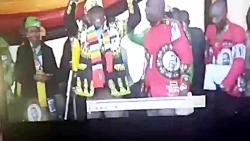 لحظه وقوع انفجار در محل سخنرانی رئیس جمهور زیمباوه