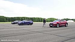 Jaguar I-Pace vs Tesla Model X 100D  P100D - DRAG RACE, ROLLING RACE AND BRAKE TEST