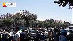 تجمع اعتراض آمیز کسبه بازار روبروی مجلس شورای اسلامی