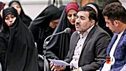 شعرخوانی جواد جعفری نسب در دیدار شعرا با رهبری