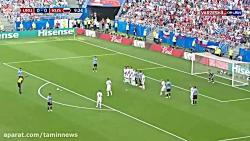گل اول اروگوئه به روسیه ( لوئیس سوارز )