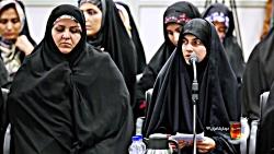 شعرخوانی سیده فرشته حسینی در دیدار شعرا با رهبری