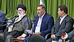شعرخوانی علیرضا قزوه در دیدار شعرا با رهبری