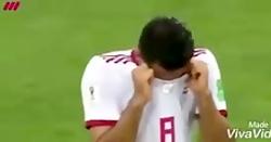 اشک های مرتضی پورعلی گنجی پس از اتمام بازی
