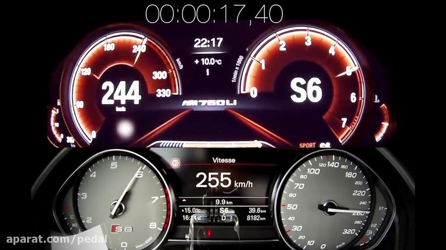 کدام سریعتر است: آئودی S8 پلاس یا BMW M760Li