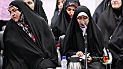 شعرخوانی فائزه زرافشان در دیدار شعرا با رهبری
