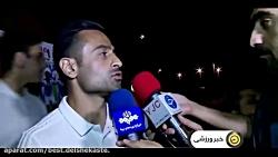 مصاحبه با کارلوس کی روش و بازیکنان تیم  ملی ایران در استقبال پرشور مردم در فرودگ