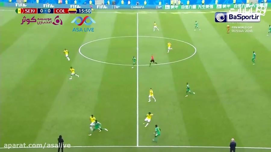 خلاصه بازی کلمبیا 1-0 سنگال (ترکی)