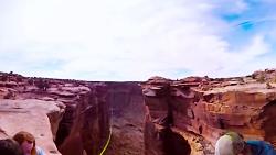 پرش در داخل این دره ترسناک رو به صورت 360 درجه ببینید