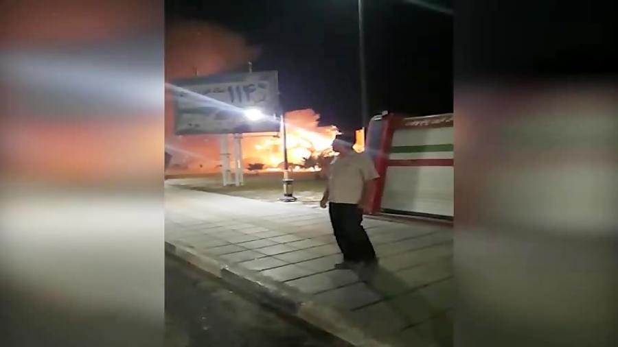 آتش سوزی در خرمشهر توسط افراد ناشناس