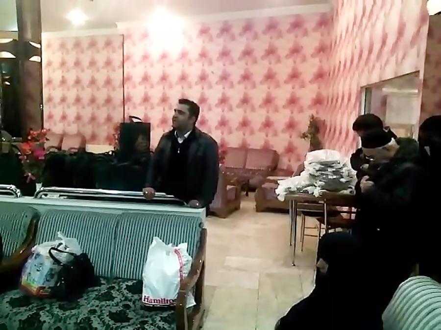 مداحی برادر حسین شعبانی در کاروان مادران شهدا مشهد مقدس
